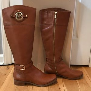 Women's Michael Kors Leather Riding Boots 7.5